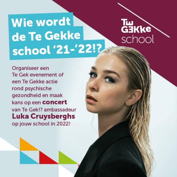 Luka Cruysberghs nieuwe ambassadeur Te Gek!? scholenaanbod